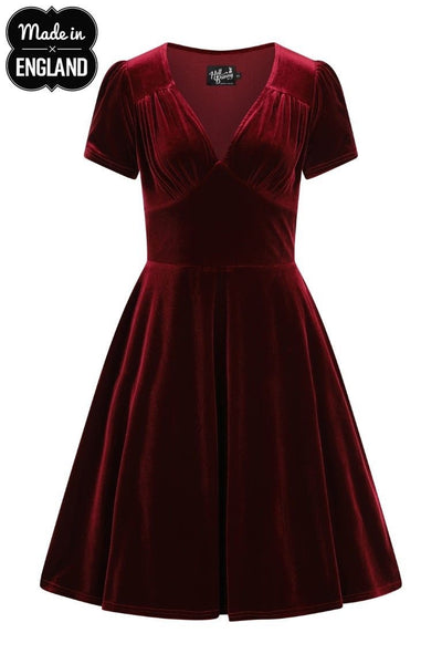 Hell Bunny - Joanne Dress Burgundy Plus Size