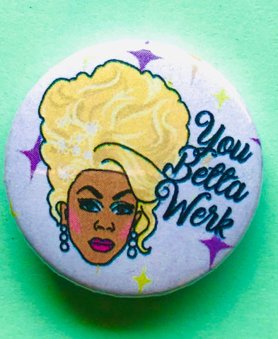 25mm Button Badge - Ru Paul