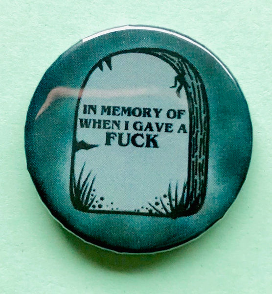 25mm Button Badge - In memory