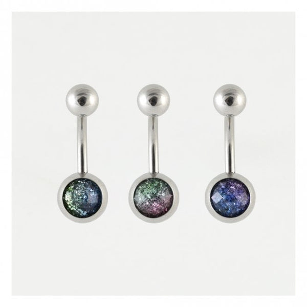 Kingsley Ryan - 2 Tone Glitter Belly Bar