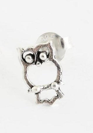 Kingsley Ryan - Silver Owl Ear Stud