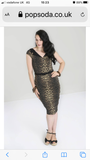 Hell Bunny Shuri Leopard print pencil dress Plus Size