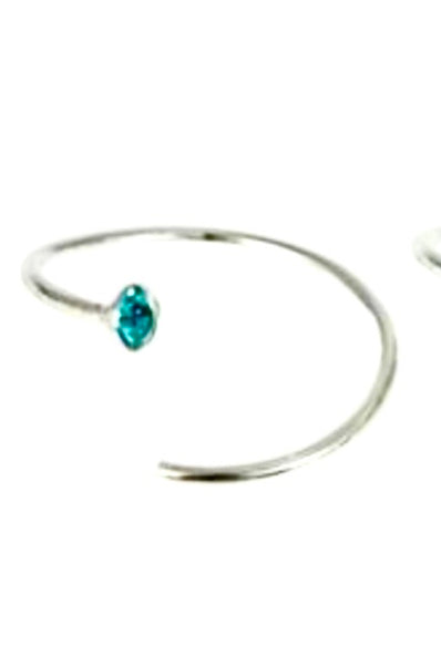 Kingsley Ryan - Silver Gemset Nose Ring