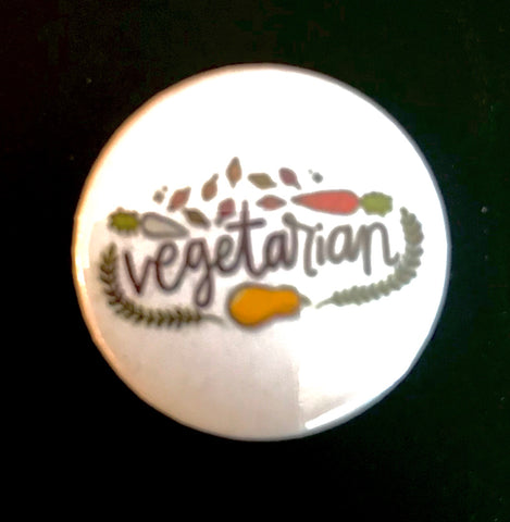 25mm Button Badge - Vegetarian
