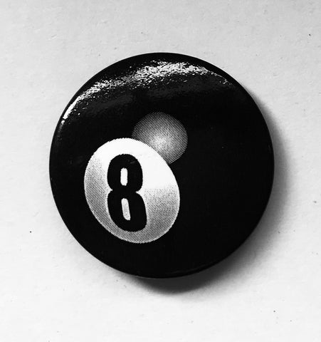 25mm Button Badge - 8 Ball