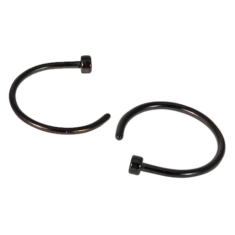 Kingsley Ryan - Surgical Steel Black Open Nose Ring