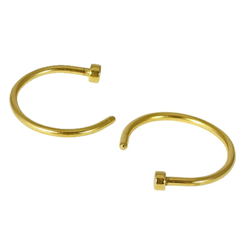 Kingsley Ryan - Surgical Steel Gold Open Nose Ring