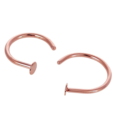 Kingsley Ryan - Surgical Steel Rose Gold Open Nose Ring