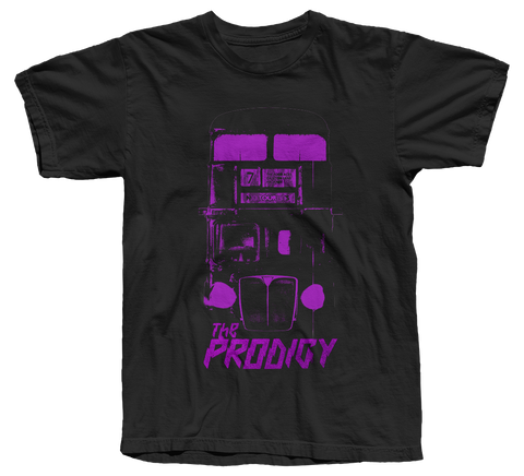 The Prodigy - No Tourists Album Purple Bus Officially Licensed Tee