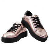 T.U.K -  Rose Gold Wingtip Casbah Creeper
