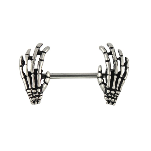 Kingsley Ryan - Skeleton Hand Nipple Bar