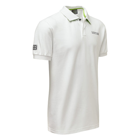 NEW White Poloshirt - Lotus Lifestyle Collection