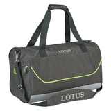 This Lotus holdall bag has a large main compartment, detachable and adjustable branded shoulder strap with padding, two grab handles with Velcro handle wrap for added comfort and a zipped side pocket for additional storage.