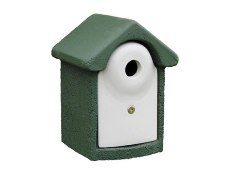 CJ Wildlife WoodStone 32mm Nest Box Green