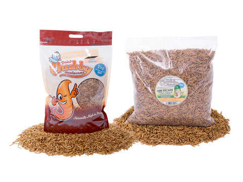 2Kg Total (1KG) Chubby Dried Mealworms & (1KG) Calci Worms
