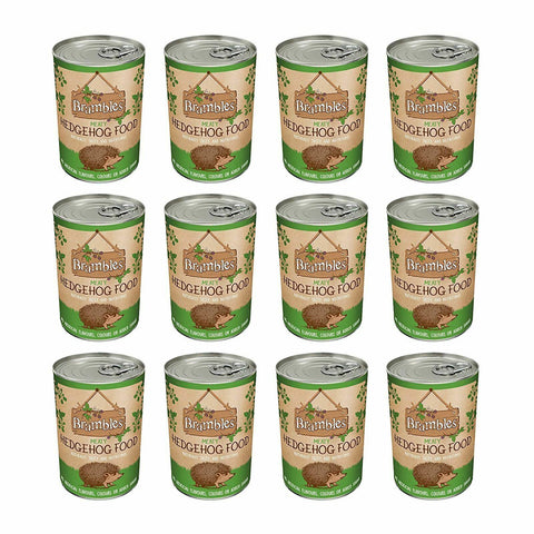 12 x Brambles Meaty Hedgehog Food 400g