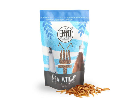 40g Of Salt & Vinegar Flavour Edible Mealworms For Human Consumption