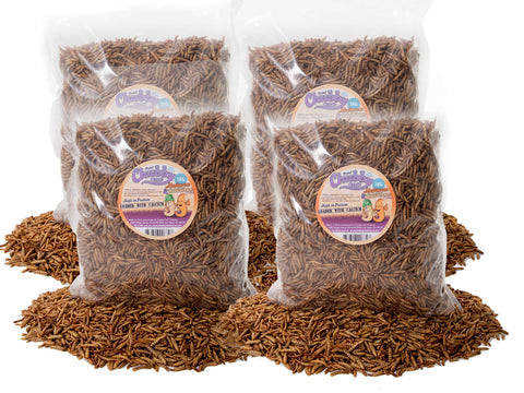 4Kg Dried Chubby Mixes (Mealworms & Calci Worms)