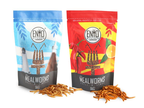 80g Variety Pack of Edible Mealworms For Human Consumption