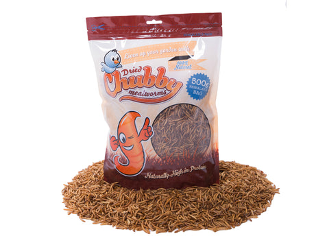 500g Dried Chubby Mealworms