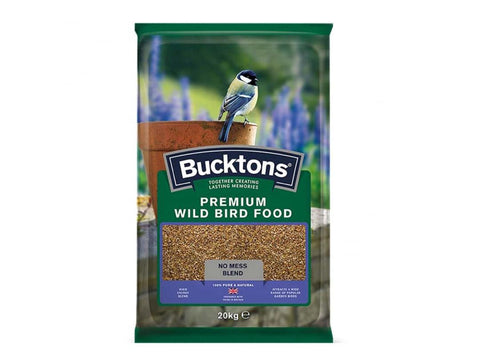 Bucktons Premium Wild Bird Food- No Mess 20kg