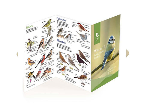 National Trust Garden Birds A5 Fold Out ID Chart