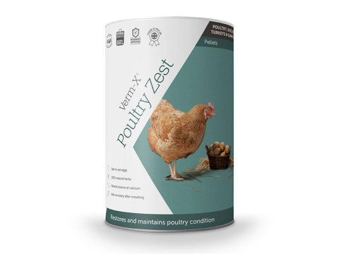 Verm-X Poultry Zest Pellets for Poultry, Ducks, Geese, Turkeys & Game Birds