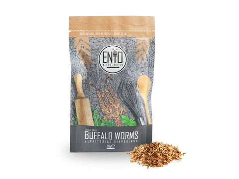 20g Edible Buffalo Worms - Edible Insects for Human Consumption