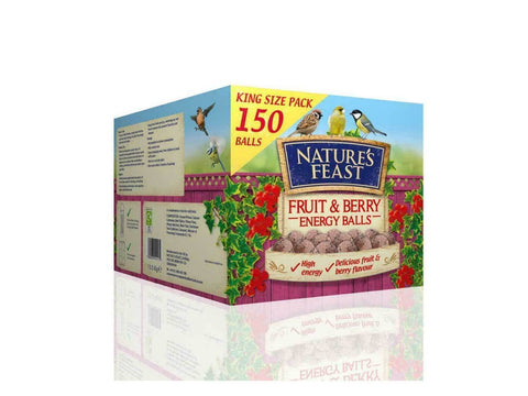 Nature's Feast 150 x 90g Fruit & Berry Energy Boost Fat Balls (No nets)