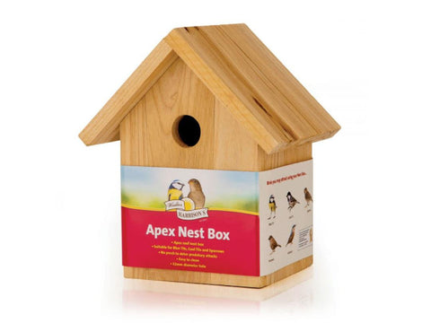 Walter Harrison's Apex Wooden Nest Box 32mm Opening