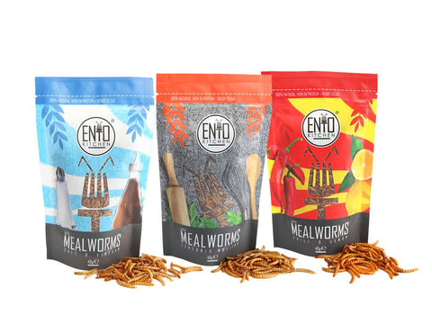 120g Variety Pack Of Edible Mealworms For Human Consumption