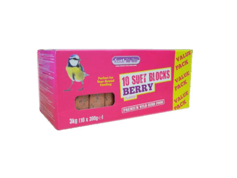 Suet To Go Berry Recipe Suet Block 300g (10 Pack)