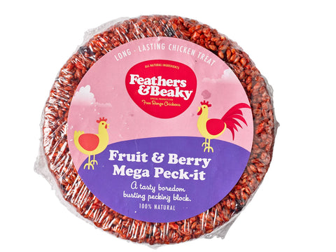 Feathers & Beaky Fruit & Berry Mega Peck-it 1.2Kg