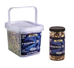 Federal BYOB Buckets and Bottles for Rimfire Range Time