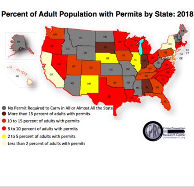 Study: 17.25 Million Concealed Handgun Permits , Biggest Increases for Women and Minorities