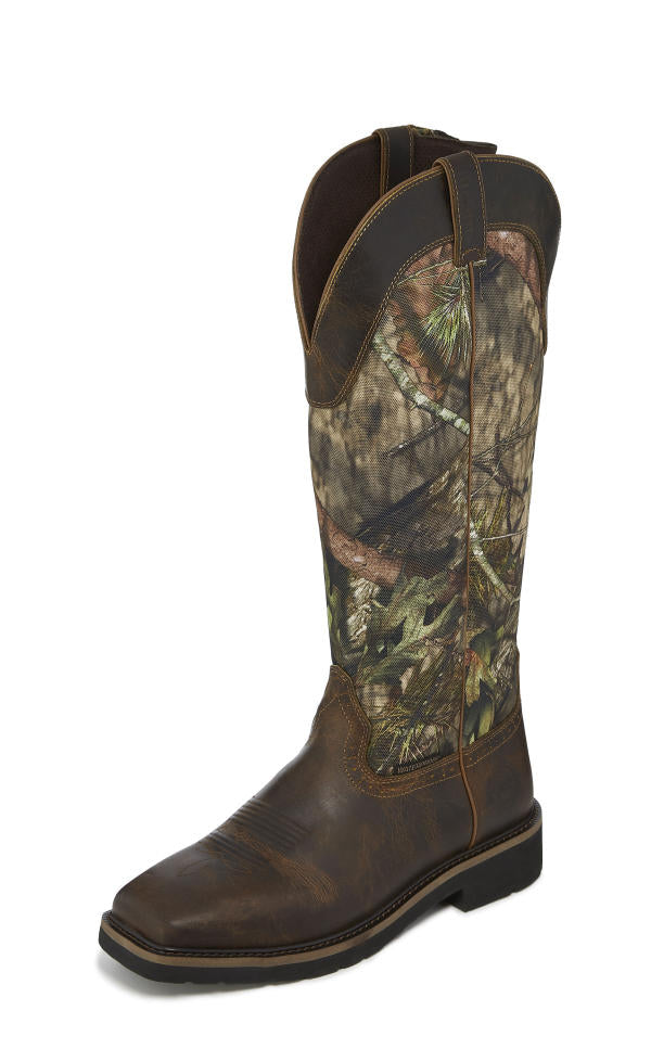 New Justin® Boots Snake Boot Features Mossy Oak® Break-Up Country®