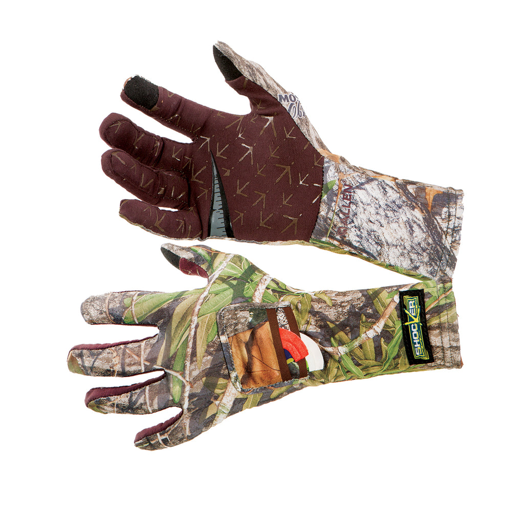 The Shocker Turkey Hunting Gloves Offered in Mossy Oak® Obsession® NWTF® Pattern
