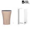 STTOKE Ceramic Reusable Cup 8oz (227ml) - Ivory Chai