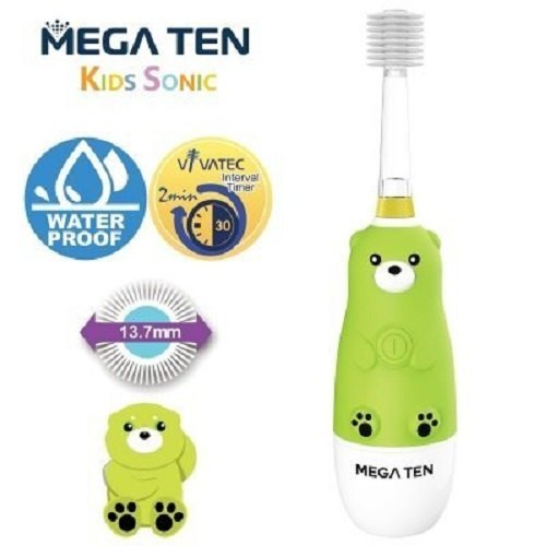 Vivatec-Mega Ten Kids Sonic Toothbrush (Bear)