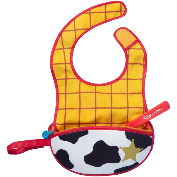 B.box-Travel Bib with Spoon (Toy Story 4 Woody)