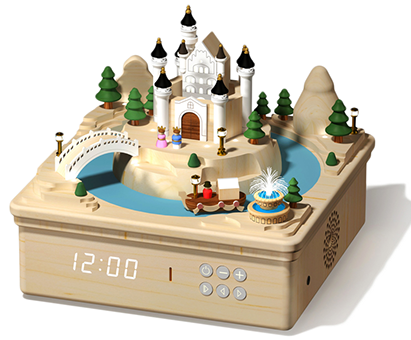 Multi Functional Music Box-Dream Castle Clock