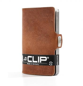 I-Clip Wallet-Soft Touch Oak+ RFID Card Protector Set