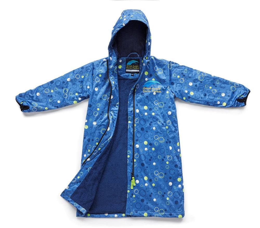Great Aussie Bubbles Swim Parka - Kids (Blue)