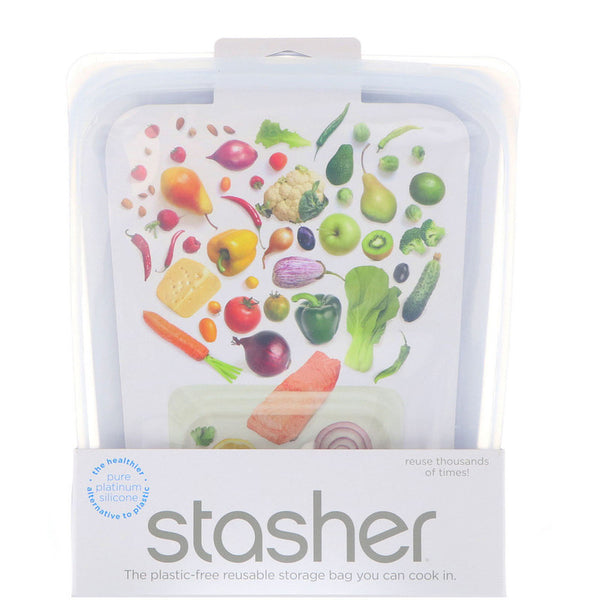 Stasher-Plastic Free Reusable Bag (Half Gallon)
