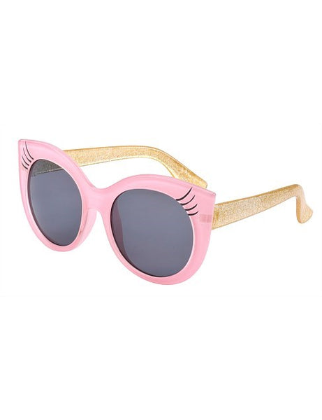 Frankie Ray-Pink with Gold Glitter Temples