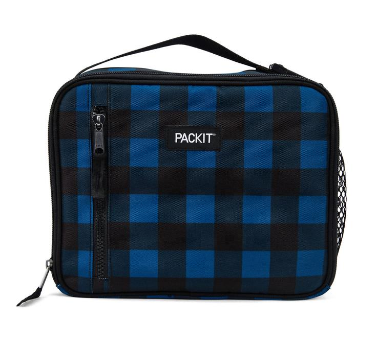Pack It-Freezable Classic Lunch Box (Navy Buffalo Stripes)