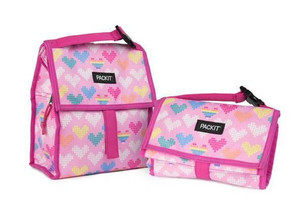 Pack It-Freezable Lunch Bag (Pixel Hearts)