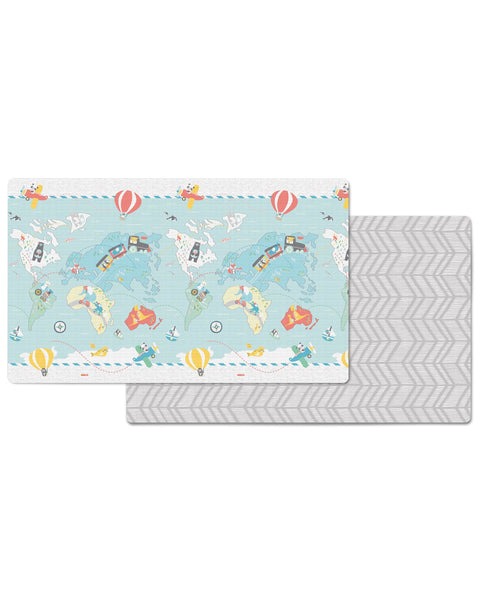 Skip Hop Reversible Playmat- Little Travelers/Herringbone