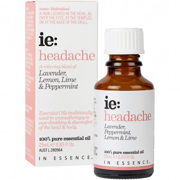 In Essence-Headache Essential Oil Blend 25mL