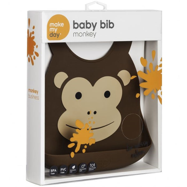 Make My Day Baby Bibs - Monkey
